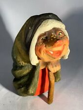 """Henning Norway-Hand Carved Elderly Troll Woman-Signed-Vintage Mid Century-7"""""""