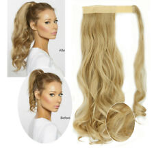 "100% Natural Wrap Around Ponytail 18"" Curly Hair Extensions Clip In Fake Hair LD"