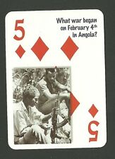 Portuguese Colonial War Angola  Neat Playing Card #1Y6