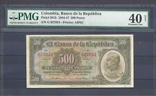 COLOMBIA  BANKNOTES $500 1944 PMG CERTIFIED 40 NET-  EXTREMELY FINE