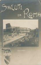 ROMA – Colosseo Saluti da Roma Real Photo Postcard – Rome – Italy - 1912