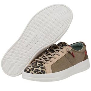 Hey Dude Wendy Karina Beige Leopard Women's Lightweight Casual Shoes Slip On