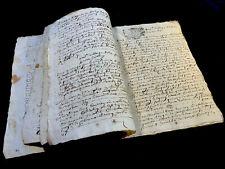 ANTIQUE MANUSCRIPT 1707    36 pages
