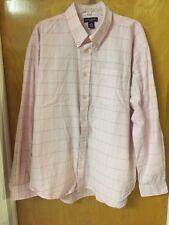 Men's Ivy Crew Classics Pink,White, & Blue Plaid Long Sleeve Shirt Size XXL EUC