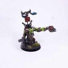 Painted Miniature Ork Warboss with Big Choppa  Warhammer 40K METAL