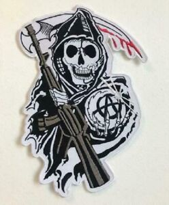 Sons of Anarchy Large Biker Jacket Back Sew On Embroidered Patch
