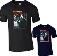 Lets Watch Scary Movies Shirt, Halloween T-Shirt t shirt tee Ghost Face Tee Top