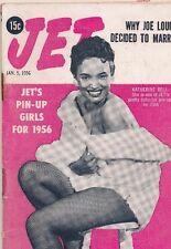 JET MAGAZINE 1/5/1956 Joe Louis Pin-ups for 1956 Katherine Bell Caryl Vickers