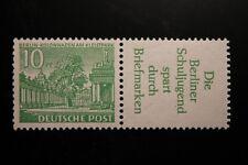 Berlin postfrisch Mi.Nr. W21 geprüft 10 Pfennig Bauten-Zusammendruck 1952