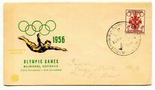 Australia=Main Stadiun Melbourne-Xvi Olympiad-Cds Cxl-1st Day Games-Cover+Cachet