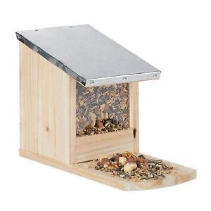Eichhörnchen Futterhaus Metall Dach Futterstation Eichhörnchenhaus Holz Kobel