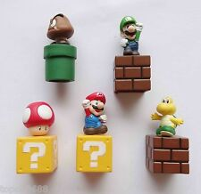 #sd3~ LOT OF 5 Super Mario Brothers FIGURE 5cm-7cm high