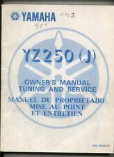 N°94 /  YAMAHA  YZ 250 (J)  manuel du proprietaire  / owner's manual  1981