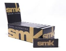 Full Box (24) SMK Medium Size Rolling Papers With Filter Tips