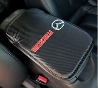 x1 For MITSUBISHI Carbon Fiber Car Center Console Armrest Cushion Mat Pad Cover