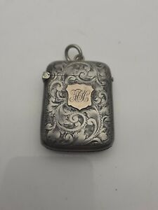 Victorian Silver & Rose Gold Vesta Case by Joseph Gloster c.1900-01