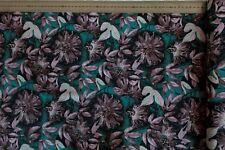 Stoff Meterware Patchwork Free Spirit Blätter Passionsflower grün 25 cm