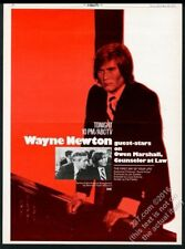 1972 Wayne Newton photo Owen Marshall TV show trade vintage print ad