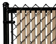 Chain Link Beige Double Wall Tube™ Privacy Slat For 10ft High Fence Bottom Lock