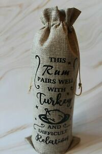 Personalised Funny Christmas Wine/Rum/Vodka/Whisky bottle bag - unusual & quirky