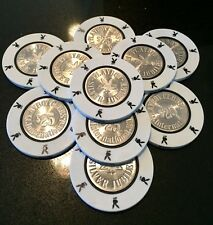 10X Playboy Club Bahamas $25 Chips Silver Jubilee 1979 UNCIRCULATED