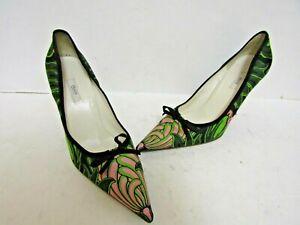 Authentic PRADA Silk Pointy Toe Heels Size EU 38.5 US 8.5