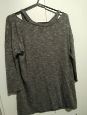 f&f grey slouch top 6-12 and grey check ladies shirt. 12