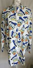 "WOMENS LOOSE FIT FUNKY DONALD DUCK LONG SHIRT BLOUSE NEW 1 SIZE BUST 45"" 114 CM"