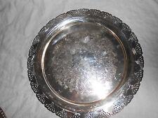 "Home decor silver round tray 15"""
