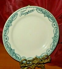 "Thompson's Lunch Room 1933 Chicago Illinois Restaurant 7"" Plate Thistle Pattern"