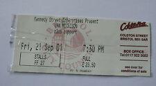 VAN MORRISON 2001 Concert Ticket Stub Colston Hall Bristol