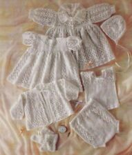 Gorgeous Vintage Baby Lacy LAYETTE  Knitting Pattern Copy  7 pieces