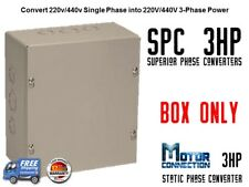 Static Phase Converter - 3 HP - Create 3 Phase Power from Single Phase Supply!
