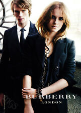 Emma Watson 1-page clipping 2009 ad for Burberry London