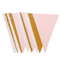 15 Flags Paper Glitter Bunting Banner Garland Celebration Hanging Decor NP2
