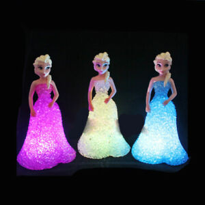 Disney's Frozen kids Toy  Elsa Anna Sofia | crystal Colorful Night Light | Lamp