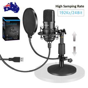 Philex Pro Broadcast Recording Podcast USB Condenser Filter Microphone Stand W/