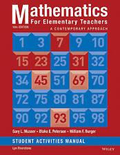 Mathematics for Elementary Teachers: A Contemporary Approach 10e Student Activit