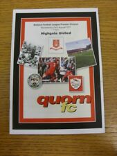 23/08/2017 Quorn v Highgate United  . Thank you for viewing this item available