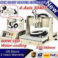 Usbparallel 34 Axis Cnc 3040 Router Mill Drill 3d Engraving Machine 400with800w