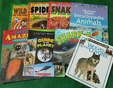 Science & Nature (Lot 8..PB) Wild Wild World of Snakes, Spiders, Sharks, Wolves