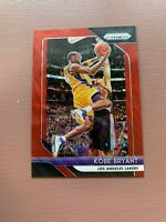 2018-19 Panini Prizm Kobe Bryant Ruby Red Wave Card #15 Los Angeles Lakers