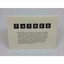 East of India père Scrabble Dictionnaire carte & enveloppe anniversaire fête des pères
