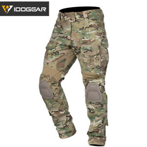 IDOGEAR G3 Combat Pants w/ Knee Pads Gear Tactical Trousers MultiCam CP Military
