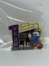 "Izzy - Atlanta 1996 Olympic Mascot Pin - "" 1 Year And Counting"""