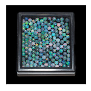 30 Pcs Natural Ethiopian Opal 4mm Round Flashy Top Quality Untreated Gemstones