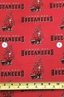 Tampa Bay Buccaneer 100% Cotton Fabric Sold By The 1/2 Yard