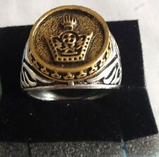 A-MIDDLE EAST,STUNNING IMPERIAL CROWN RING,SIZE UK V,US AND CANADA 10 3/4.9.5 GR