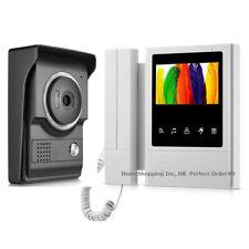 "Classic Wired 4.3"" Lcd Video Door Phone Doorbell Video Intercom Entry System Top"