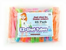 25 EZ Shot Neon Tubes Original Drink Plastic Glasses Bar Shooter Birthday Party